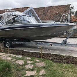 Båttrailer 1500kg 80km/h