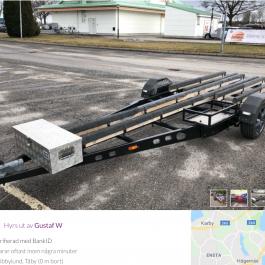 Hyr Jetski trailer för 3st jetski ej vattenskoter